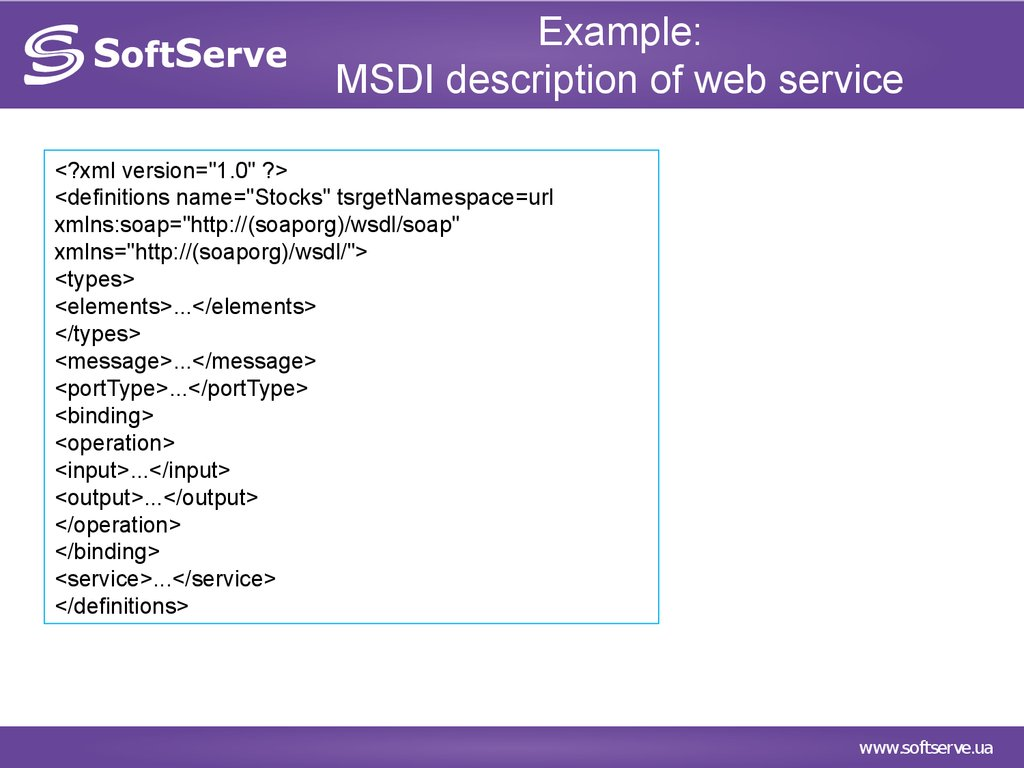Introduction to Web Services - online presentation