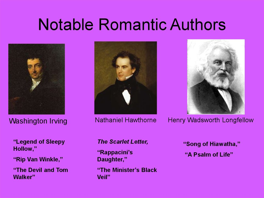 Notable Romantic Authors