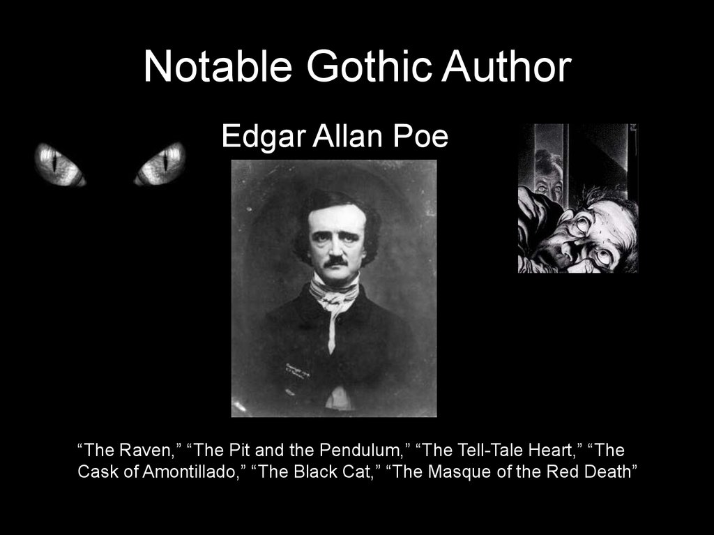 Notable Gothic Author