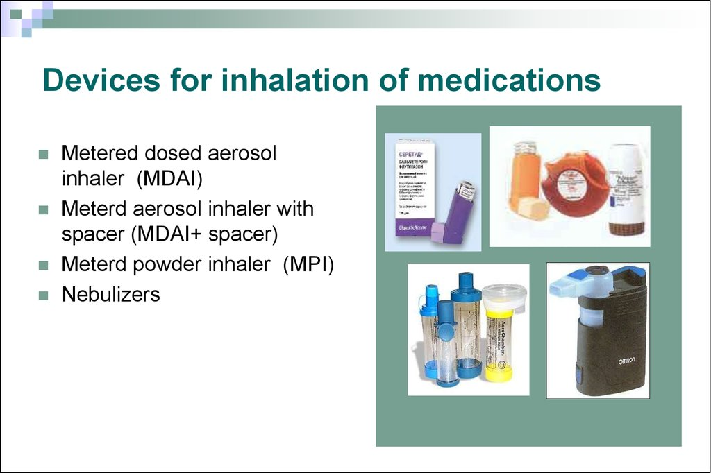 Devices for inhalation of medications