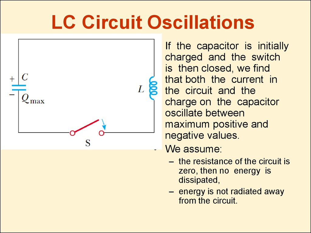 LC Circuit Oscillations