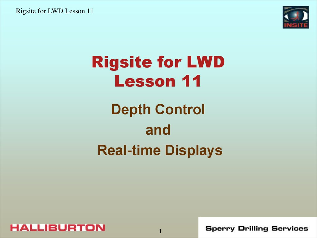 Rigsite for LWD Lesson 11