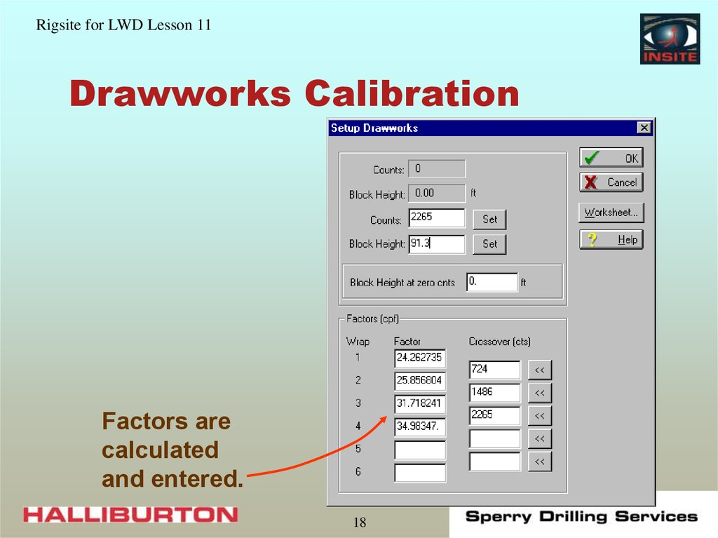Drawworks Calibration