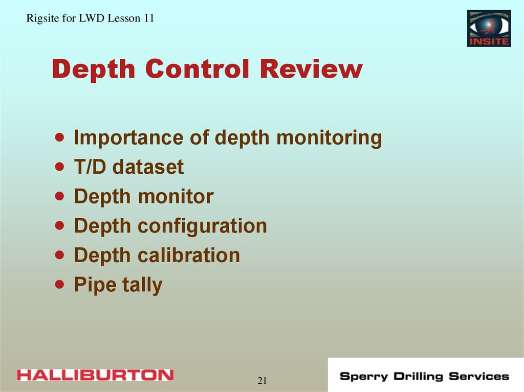 Depth Control Review