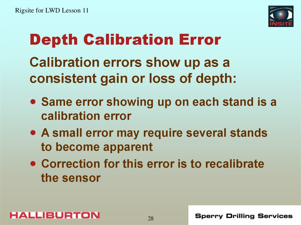 Depth Calibration Error