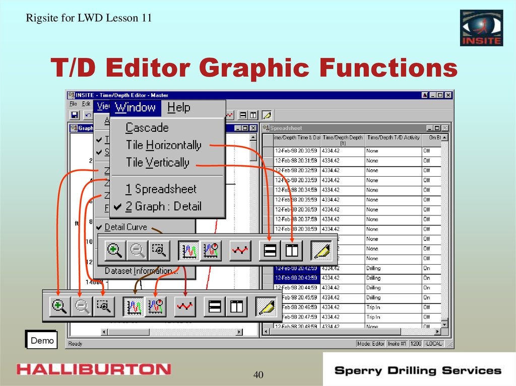 T/D Editor Graphic Functions