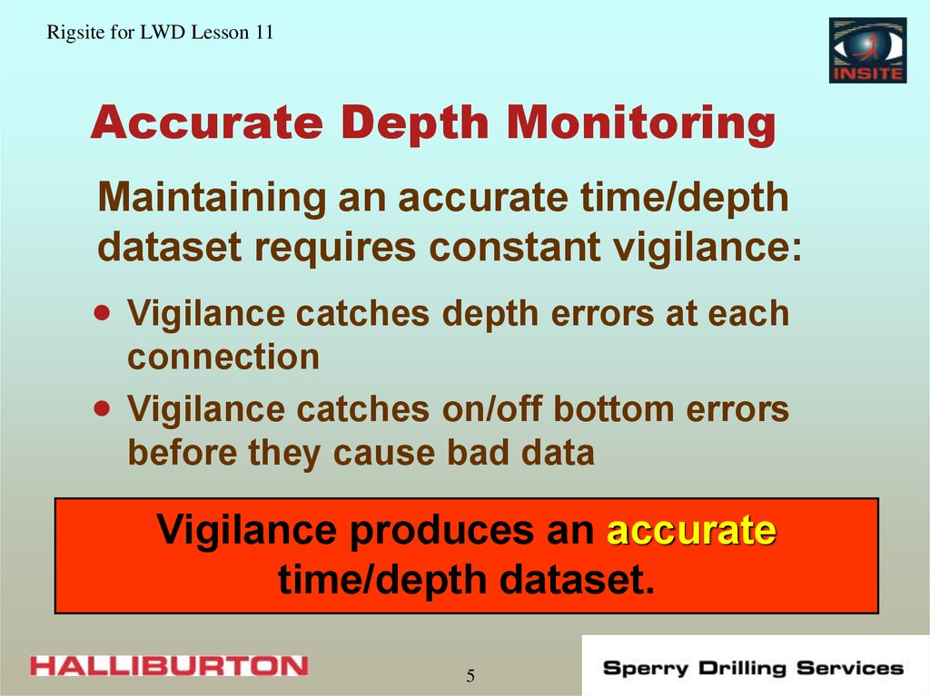 Accurate Depth Monitoring