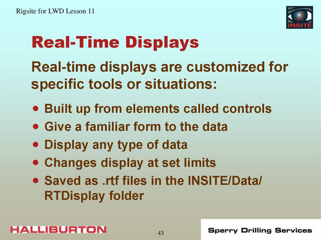 Real-Time Displays