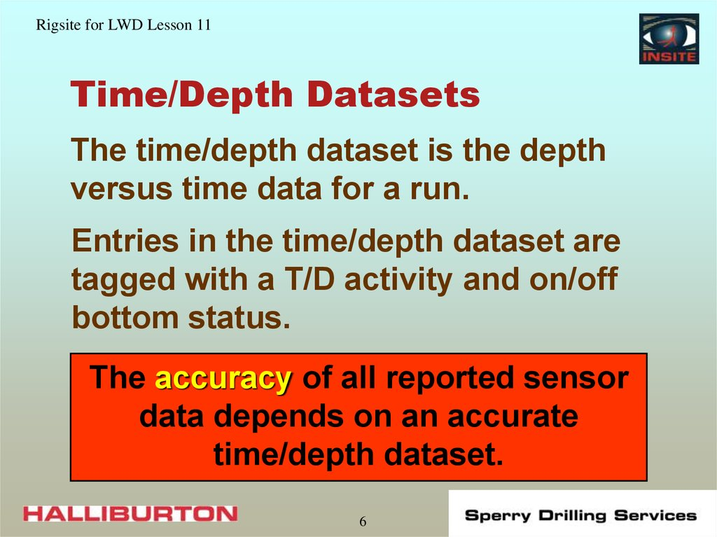Time/Depth Datasets