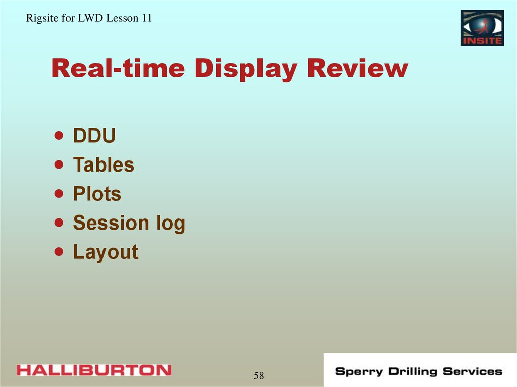 Real-time Display Review