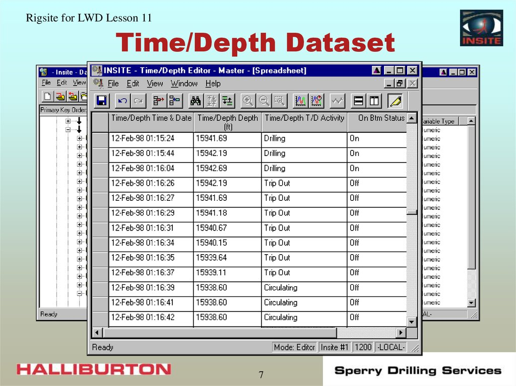 Time/Depth Dataset