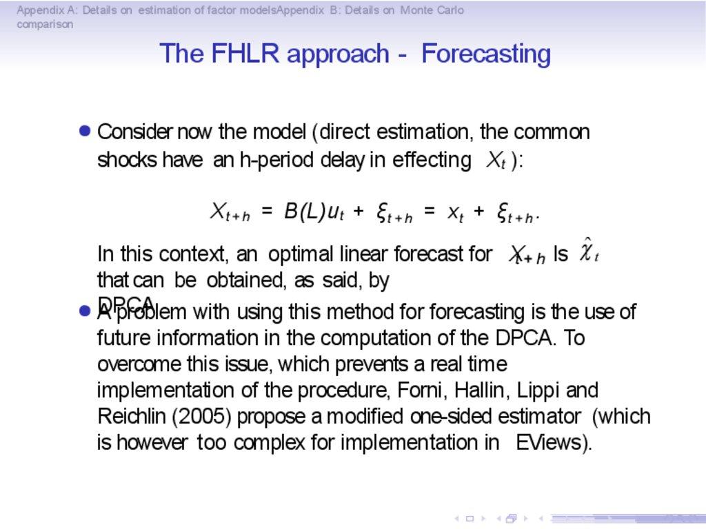 Basics of factor models - online presentation