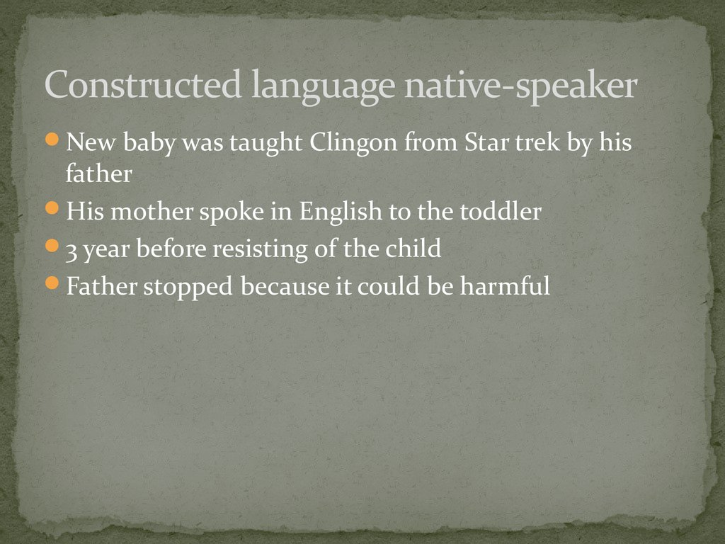 Constructed language native-speaker
