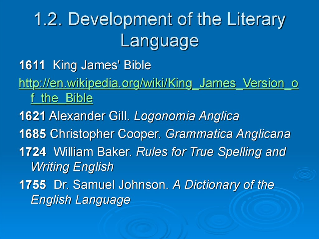 1.2. Development of the Literary Language
