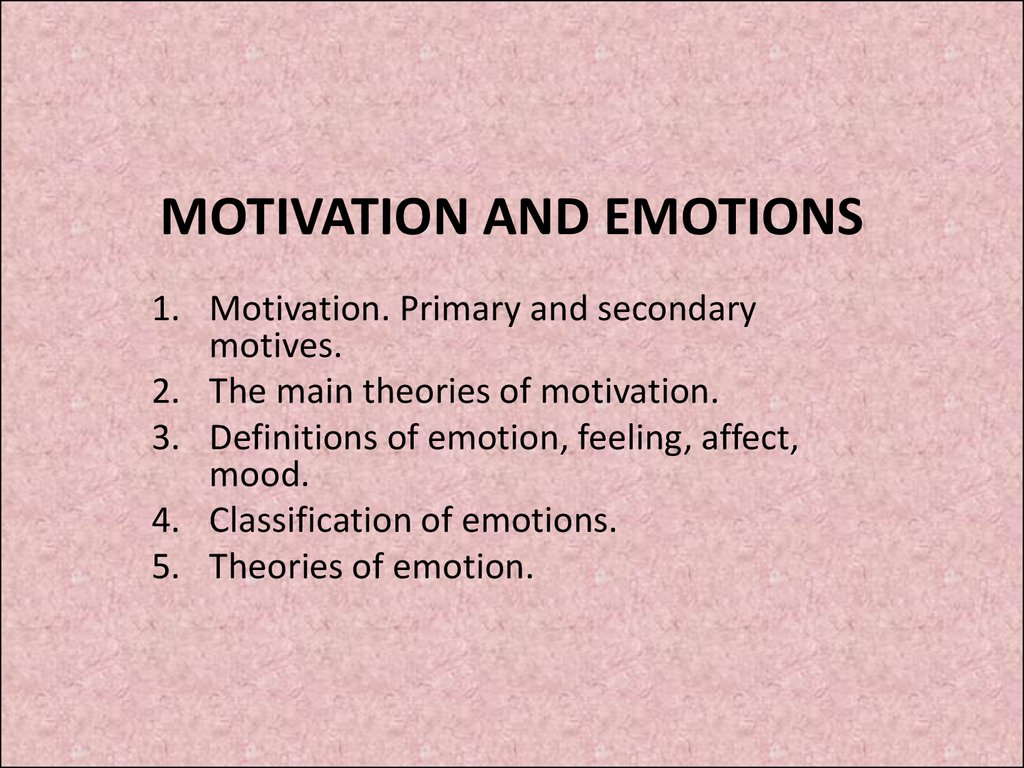 essays on motivation and emotion Chapter 7 motivation and emotion 1 1 motivation and emotion 2 what is motivation motivation has been defined in various ways over the.