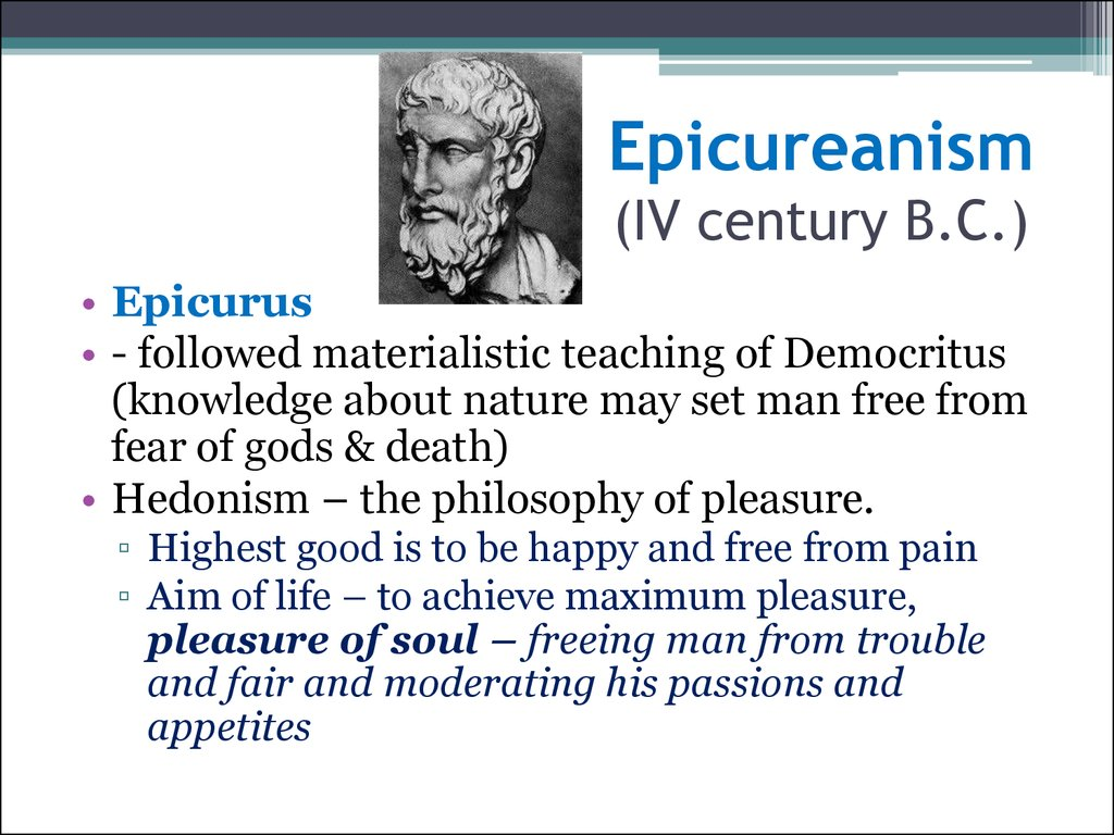 aristotle and epicurus Start studying philosophy: aristotle and epicurus learn vocabulary, terms, and more with flashcards, games, and other study tools.