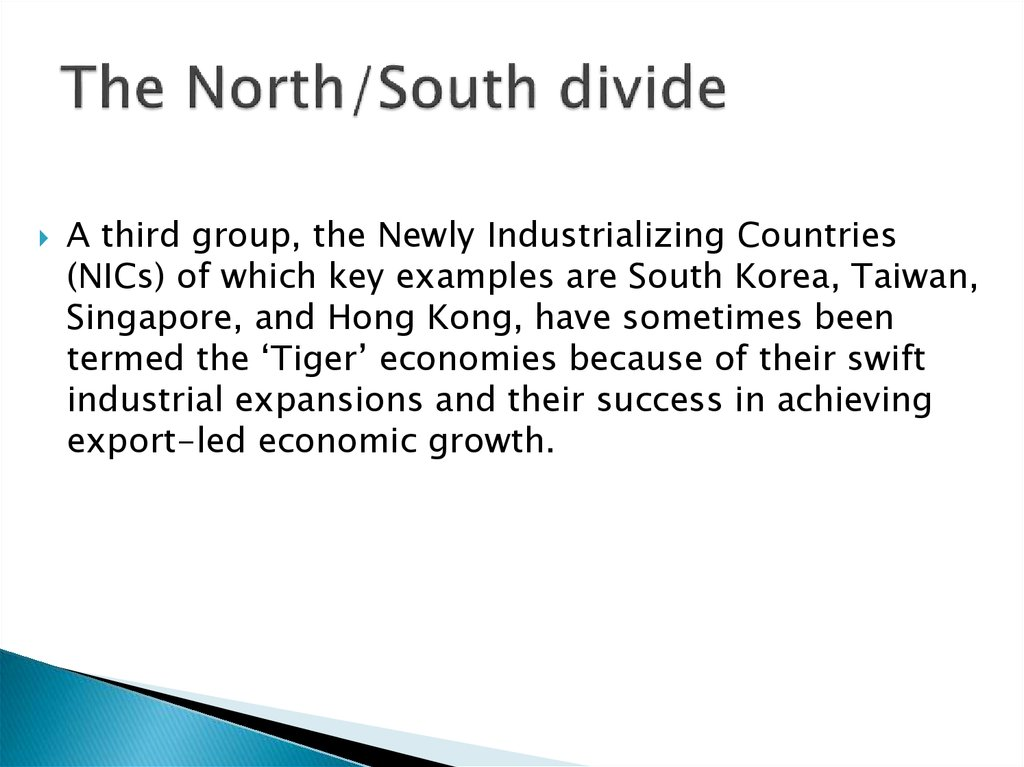 The North/South divide