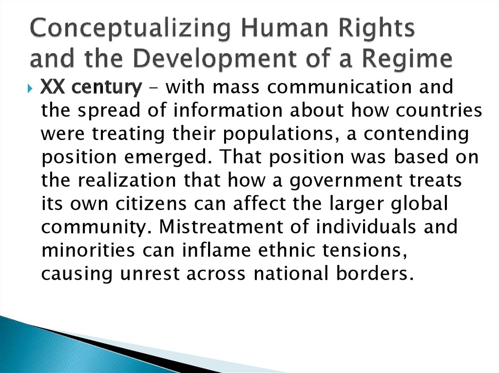 Conceptualizing Human Rights and the Development of a Regime