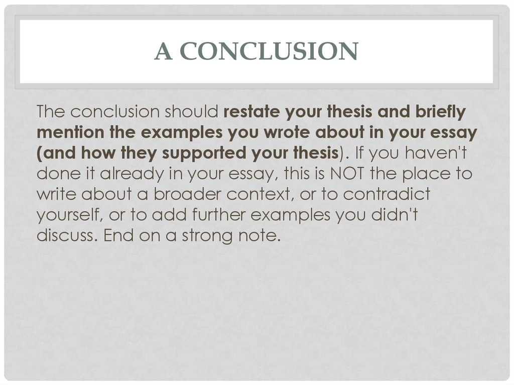 sat essay is not a typical one online presentation  a conclusion