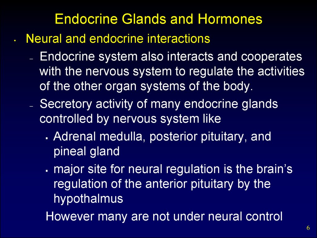 Endocrine Glands and Hormones