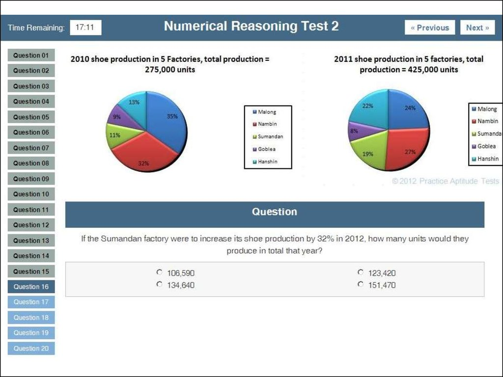 numeric reasoning Numerical reasoning tests are designed to identify an individual's level of ability to reason with information provided in tables, charts and figures, in order to obtain a correct answer a test taker is advised to look at each chart or table provided for each question, and use the information in these to work out the correct answer.