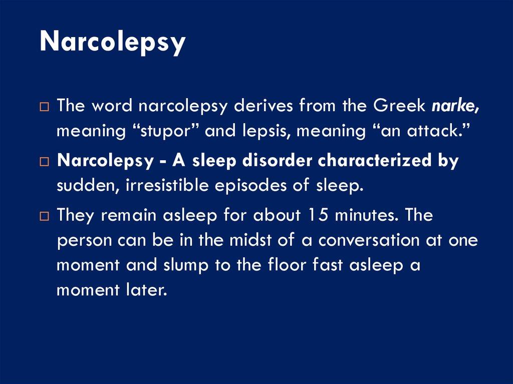narcolepsy disease