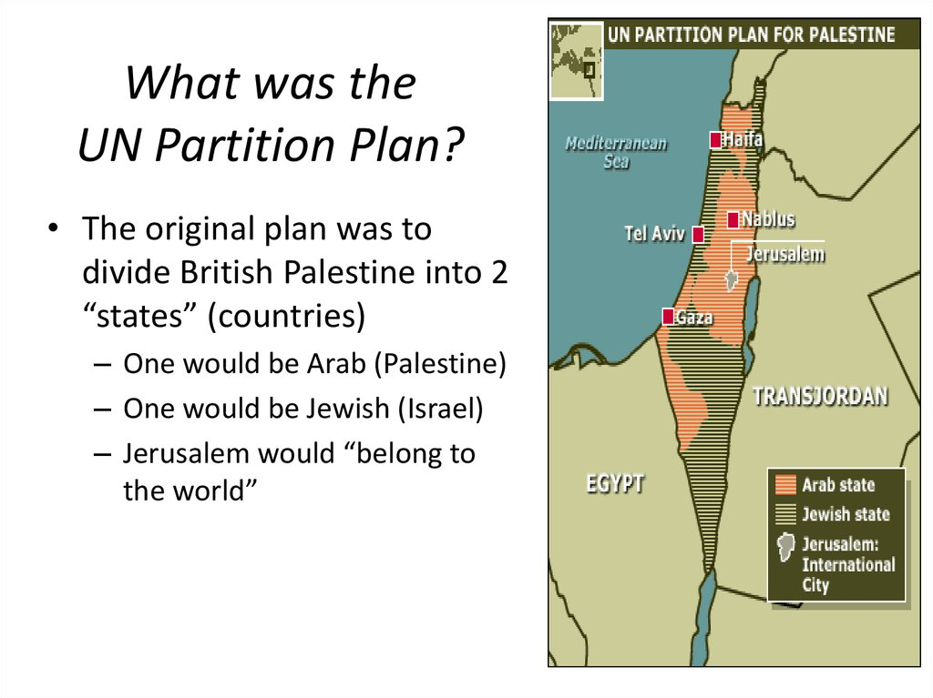 What was the UN Partition Plan?