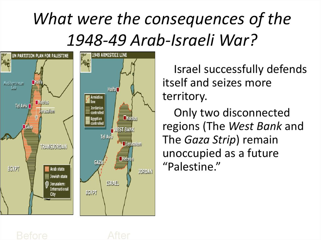What were the consequences of the 1948-49 Arab-Israeli War?