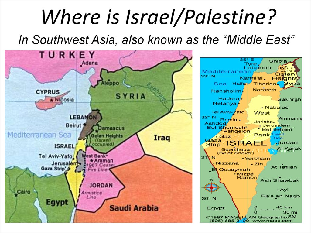 Where is Israel/Palestine?