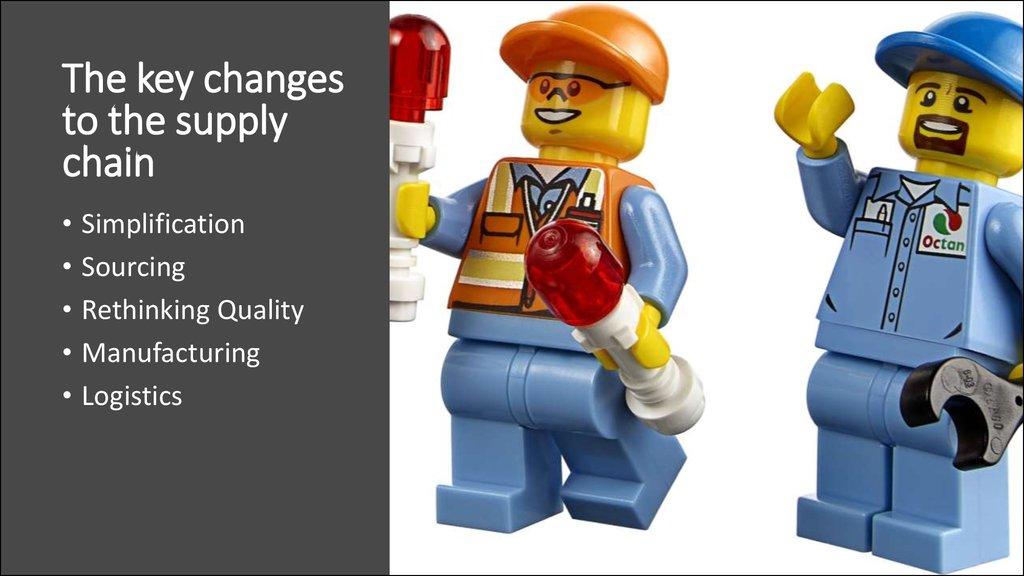 The key changes to the supply chain