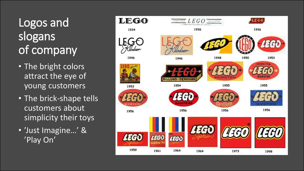 Logos and slogans of company