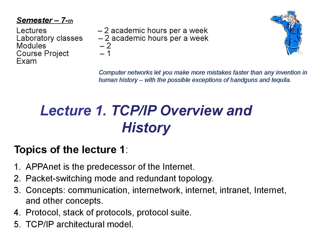 Lecture 1. TCP/IP Overview and History