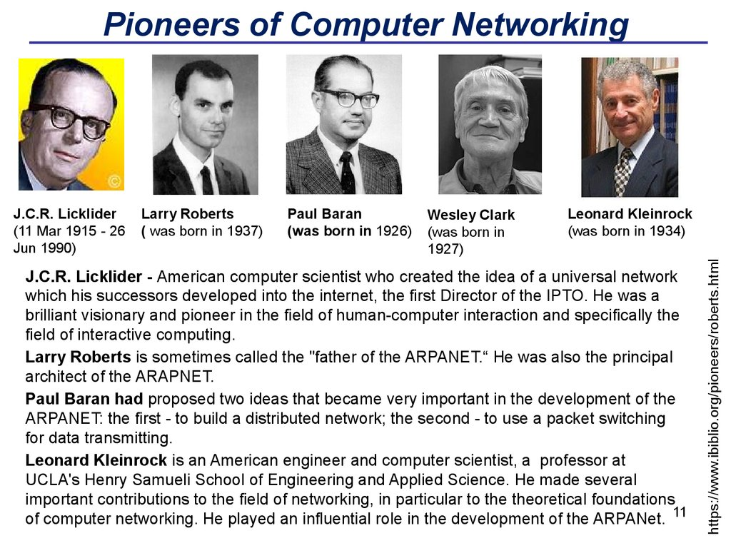Pioneers of Computer Networking