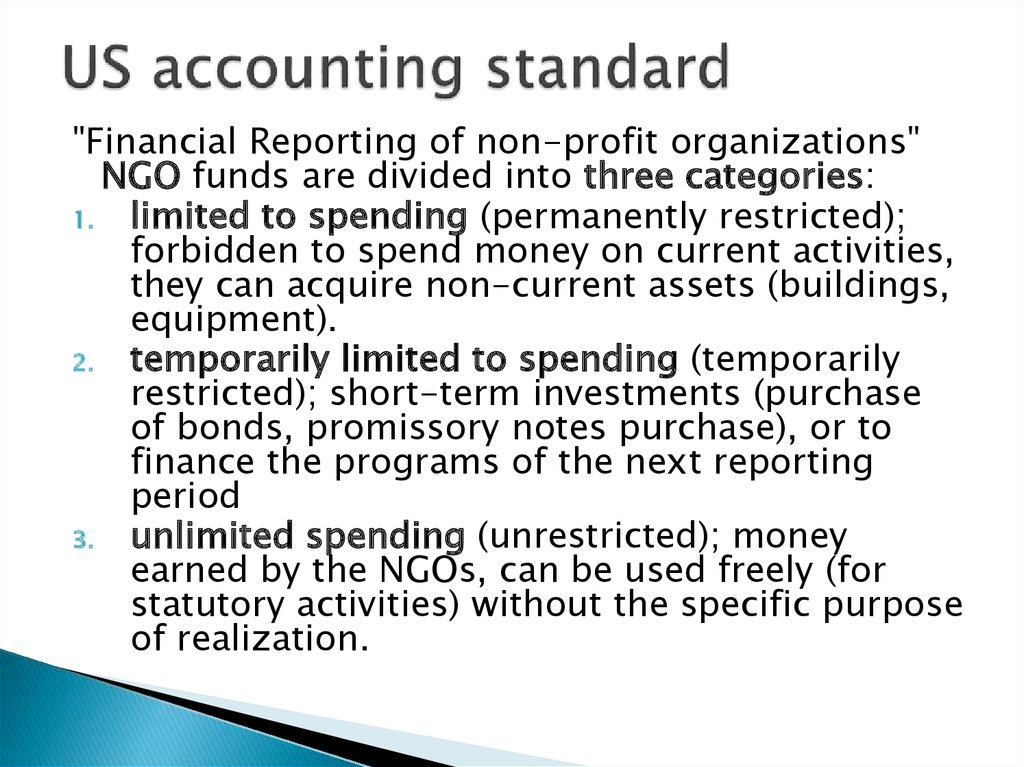 US accounting standard