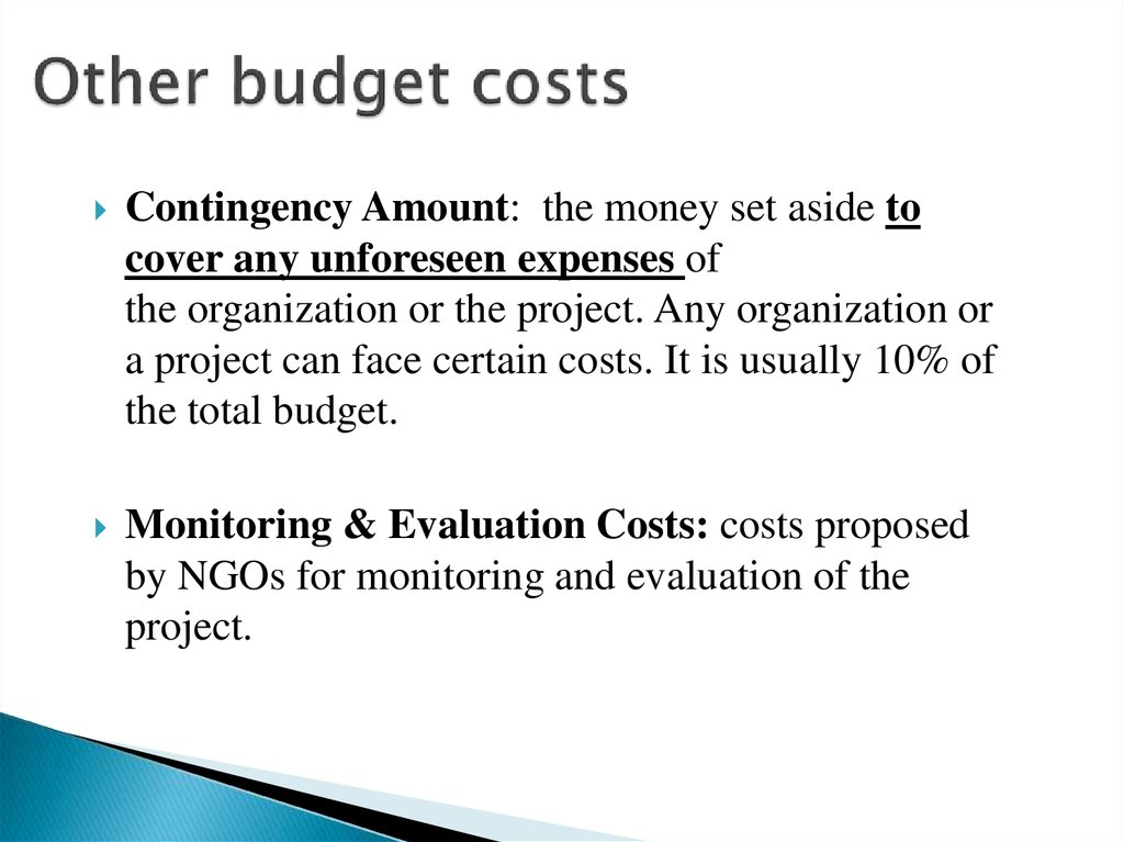 Other budget costs