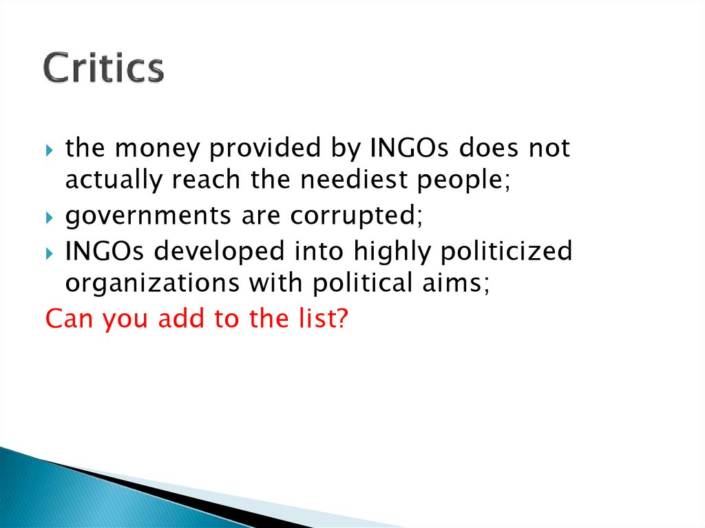 an argument of the effectiveness of ngos in the government