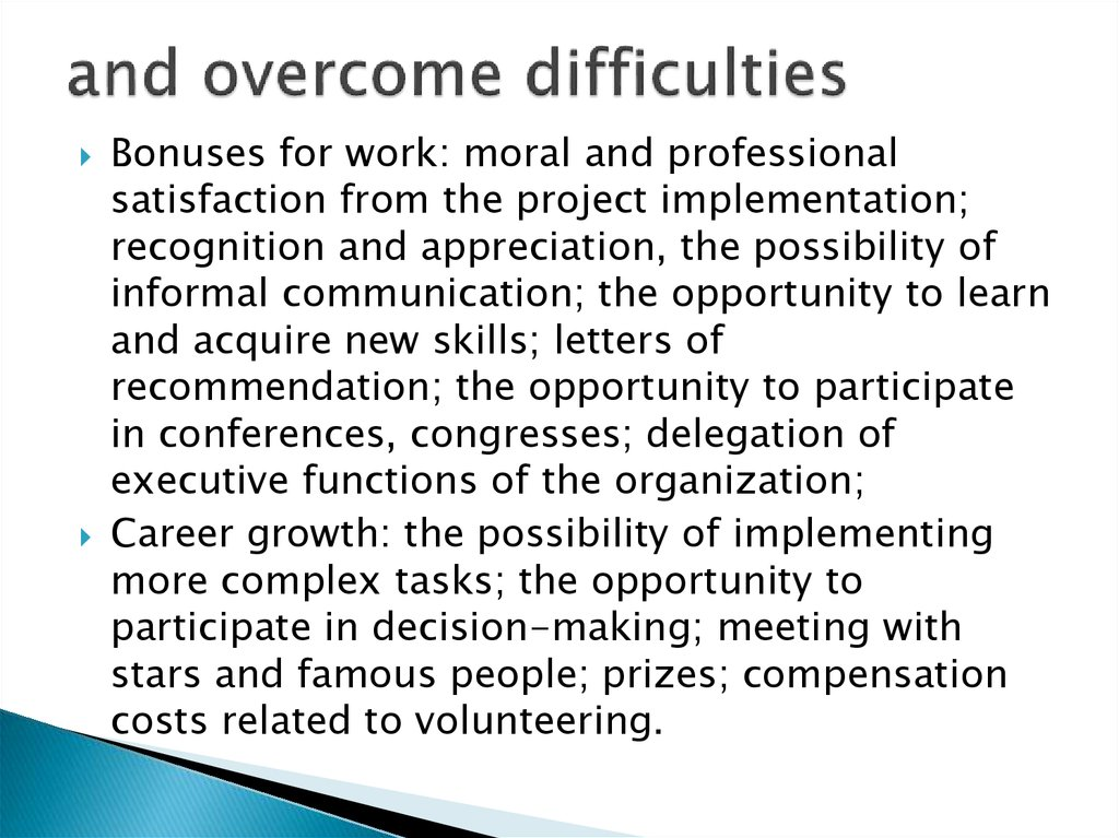 overcoming difficulties essay Assessment and intervention in overcoming writing difficulties an illustration from the self-regulated strategy development model.