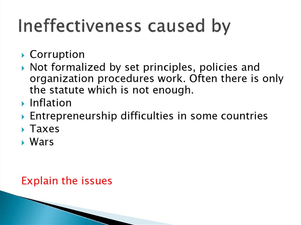 Ineffectiveness caused by