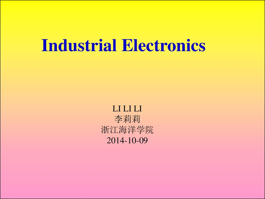 Industrial Electronics Fundamentals Of Electric Circuits Online Learning Electricity And