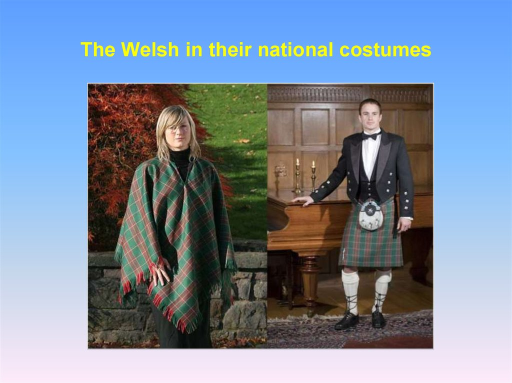 The Welsh in their national costumes