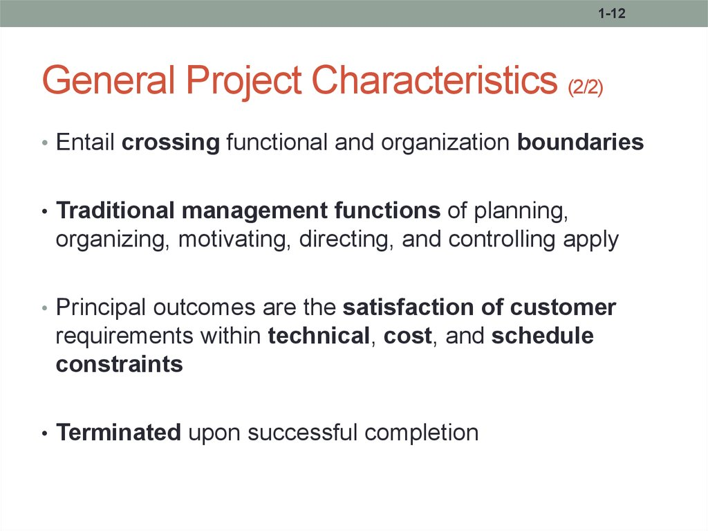 Fundamentals Of Project Management презентация онлайн - Technical requirements project management