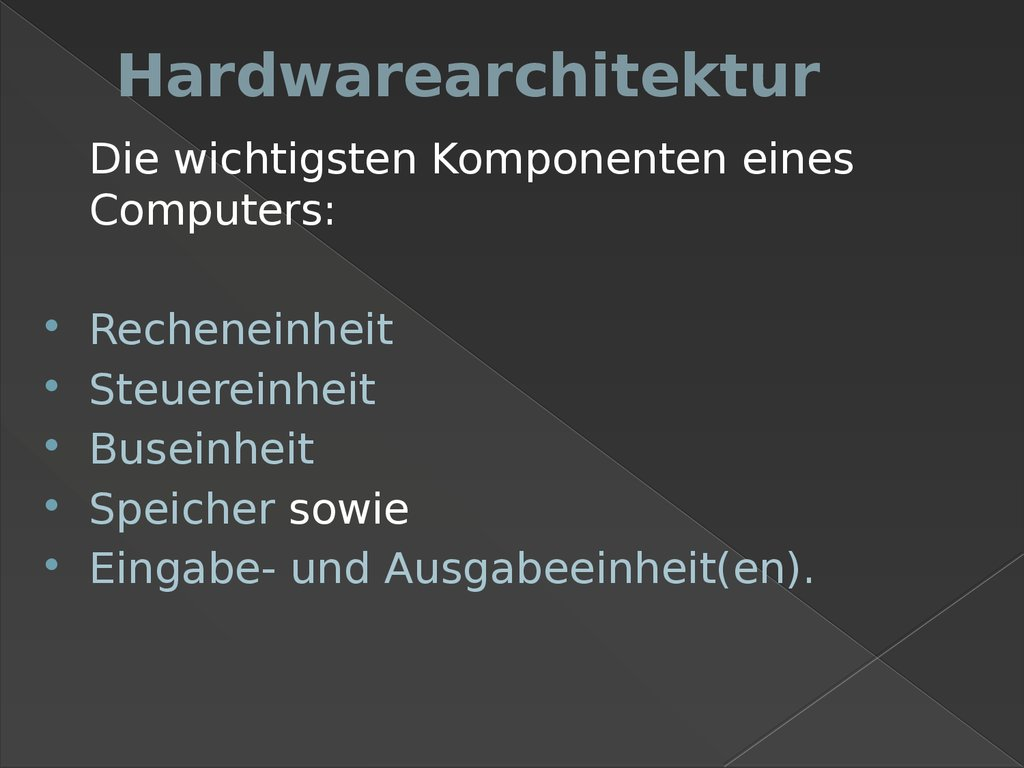 Hardwarearchitektur