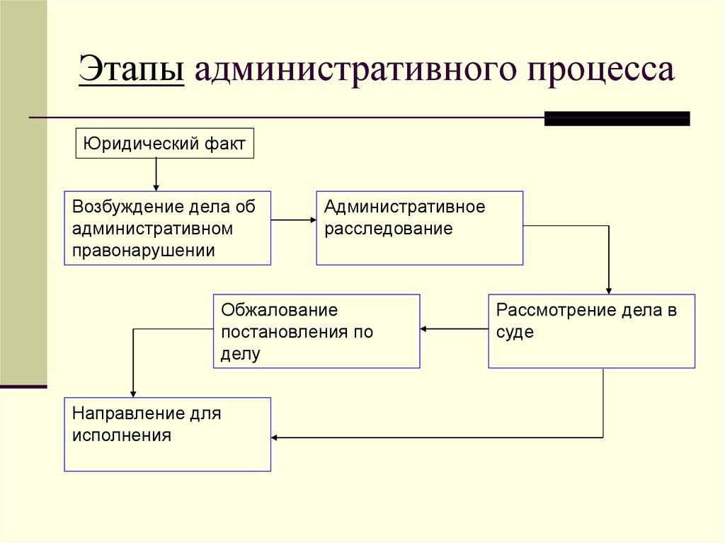 Схема обжалования постановления об административном правонарушении