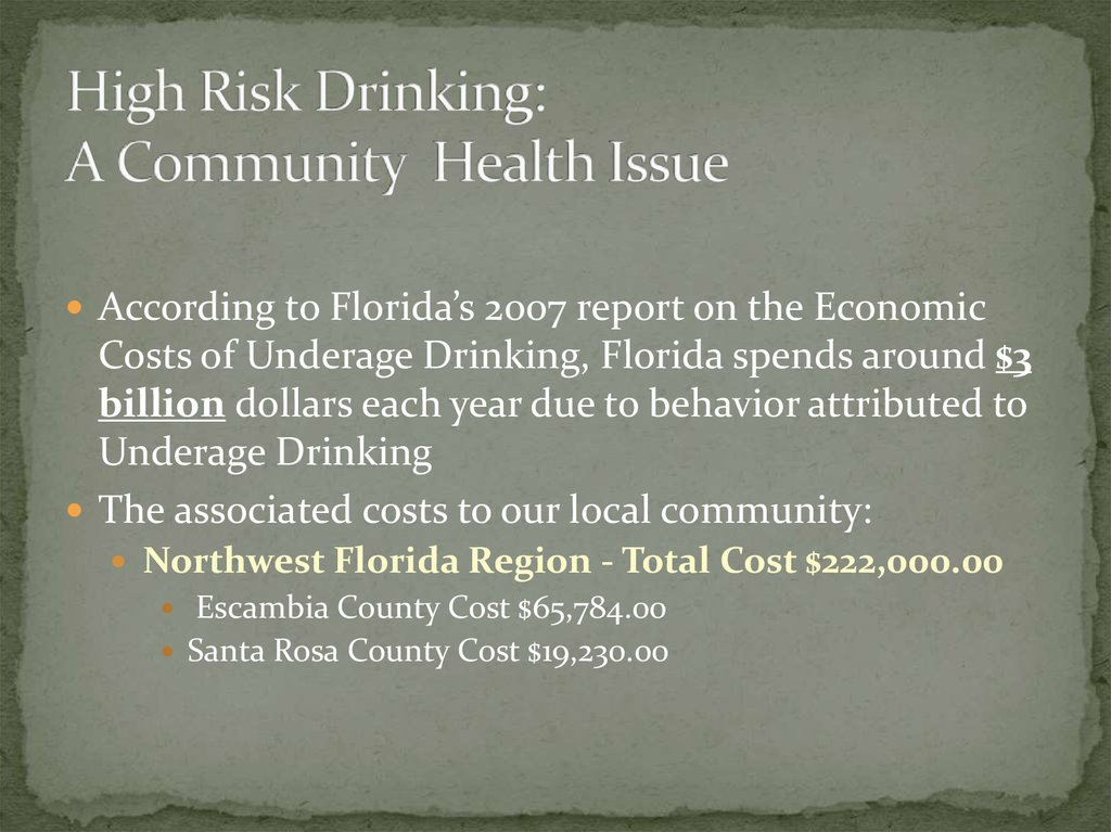 UWF Campus Alcohol Coalition - online presentation