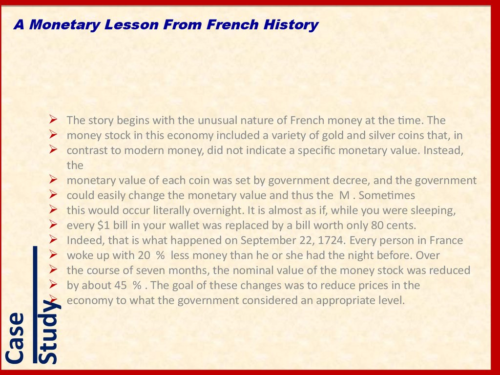 A Monetary Lesson From French History