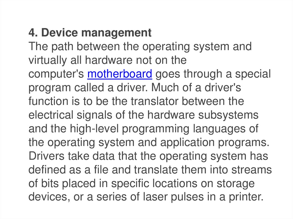 Types of Software (Application, System) - online presentation