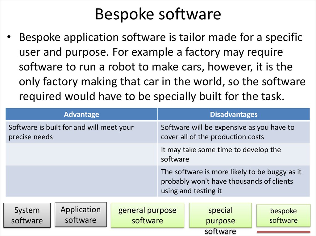 Bespoke software