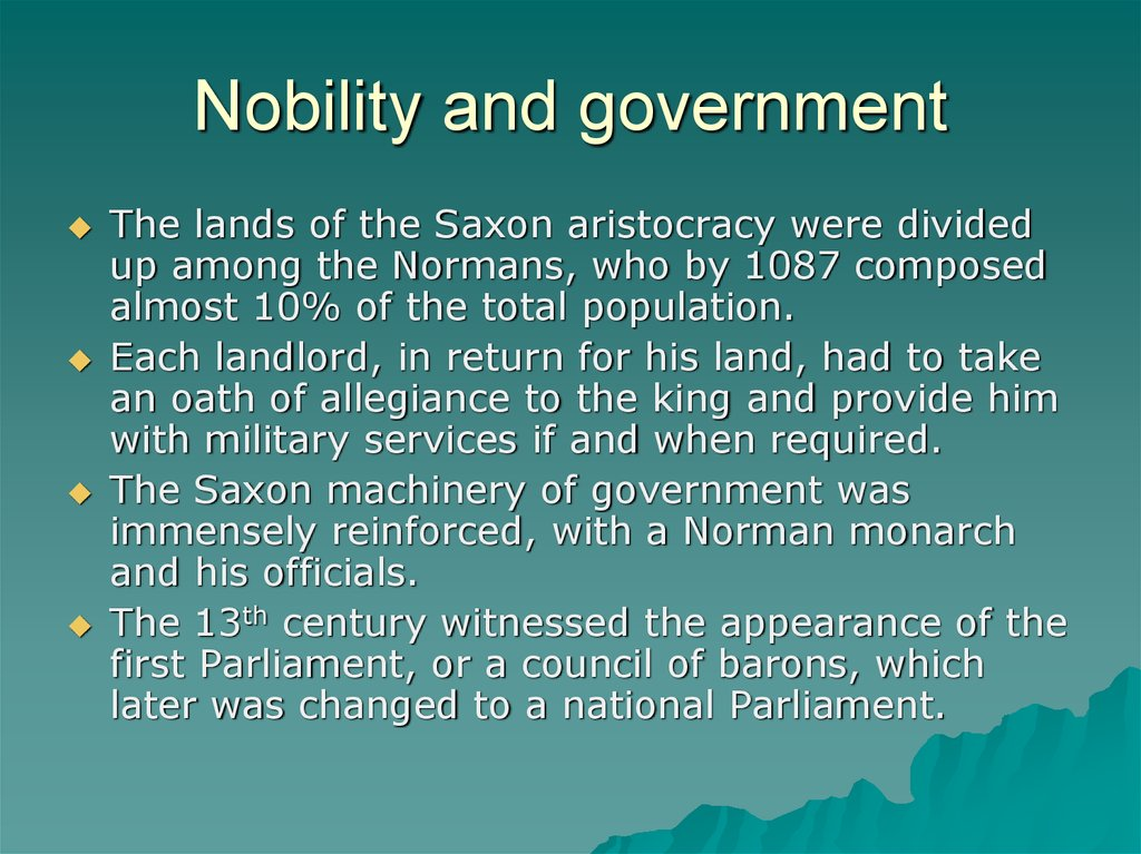 Nobility and government