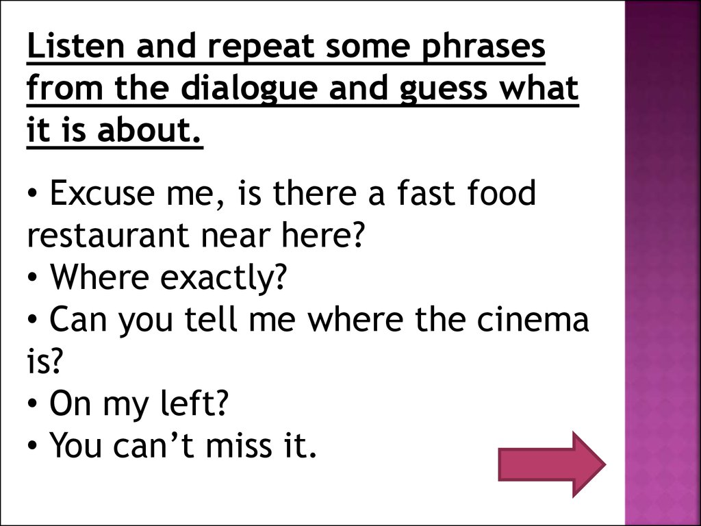 asking for and giving directions online presentation 16
