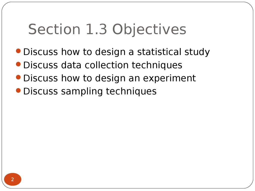 Section 1.3 Objectives